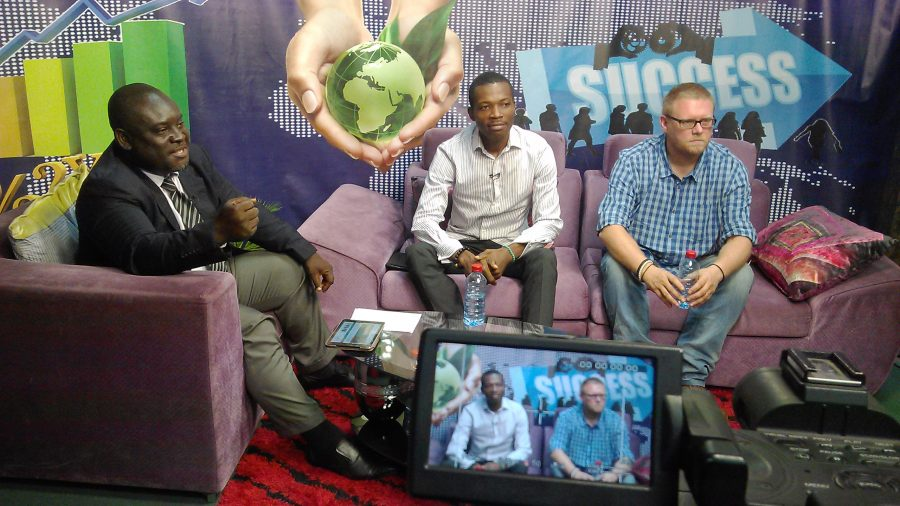 Introducing entrepreneurship on the BTA Morning Show, Ghana